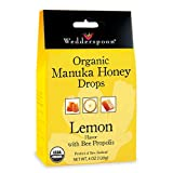 Wedderspoon Organic Manuka Honey Lozenges with Lemon and Bee Propolis, 4 Ounce