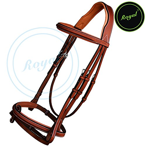 Runners New Thin Raised Bridle with Detachable Flash & PP Rubber Grip Reins