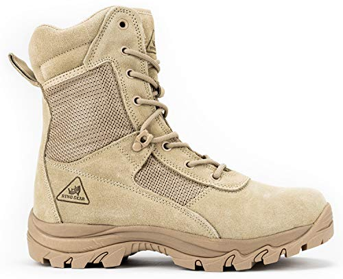 Ryno Gear Tactical Combat Boots with CoolMax Lining (Beige) (8, 9)
