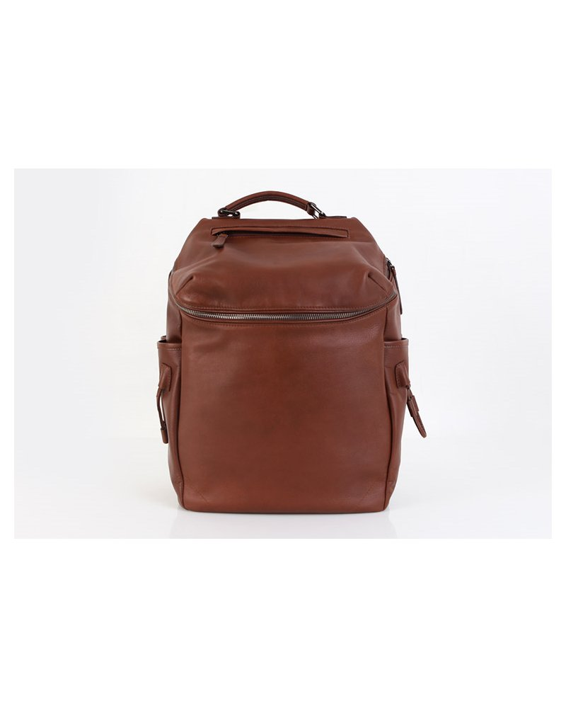Fromb Vito Cowhide Backpack Brown