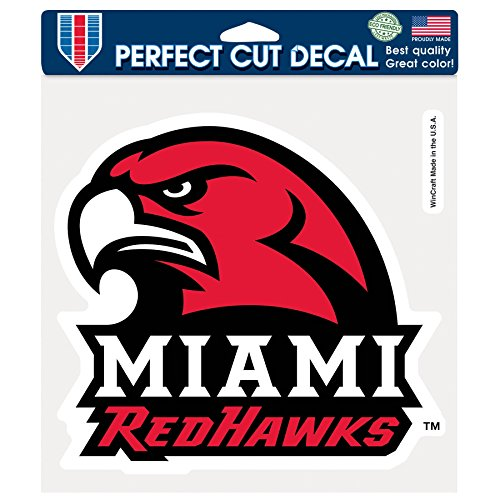 NCAA Miami (Ohio) Redhawks Perfect Cut Color Decal, 8 x 8