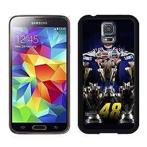 New Unique DIY Antiskid Skin Case For Samsung S5 Jimmie Johnson Samsung Galaxy S5 Black Phone Case 211