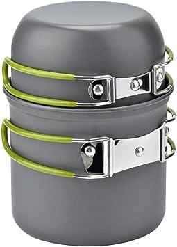 Ruixf Ollas de Camping, Camping Pot Set Potes de Camping ...