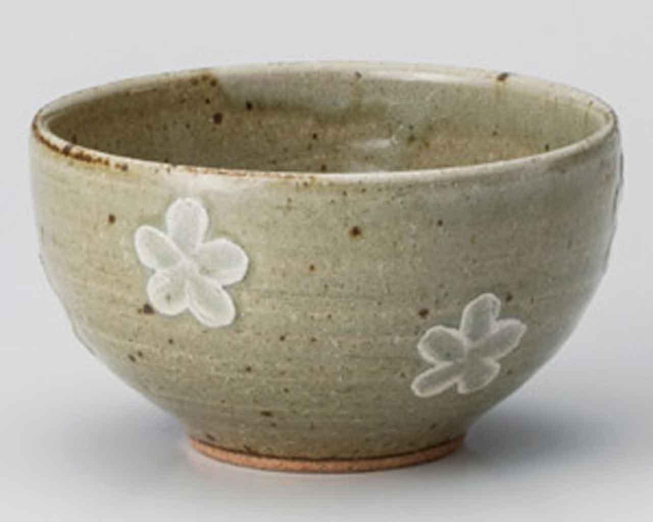 Kahori 4.7inch Set of 10 Rice bowls Ceramic Made in Japan