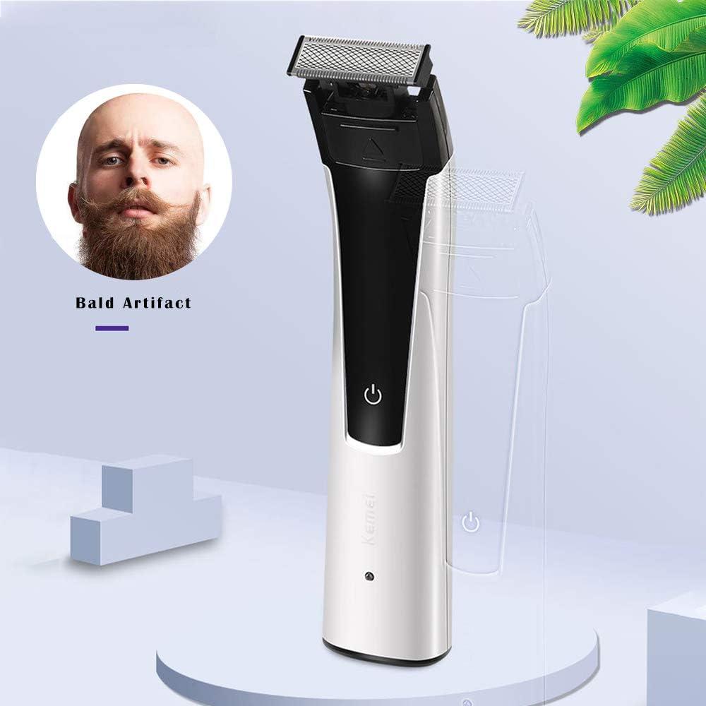 KEMEI Afeitadora Eléctrica Afeitadora para Hombres Calva ...