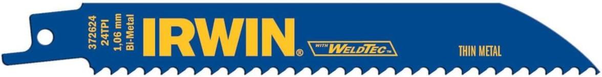 """50 IRWIN WELDTEC 12/"""" RECIPROCATING SAW BLADES 6TPI BI METAL WOOD W// NAILS 372156"""