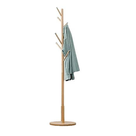 Ymjdmb Soporte de Perchero de bambú Soporte de Montaje fácil ...