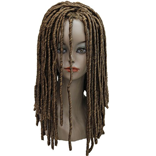 Lydell Twist Hair Crotchet Braids Wigs Synthetic Dreadlocks Braids Hair Wig (27/33 Strawberry Blonde and Dark -