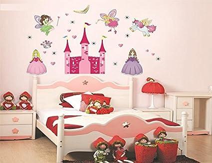 Syga New Angel Castle Princess Fairy Art Wall Sticker (PVC Vinyl, 61 cm x 5 cm x 5 cm)