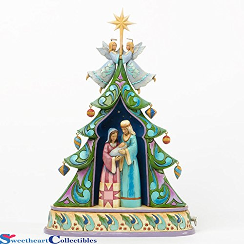 Jim Shore for Enesco Heartwood Creek Holy Family by Tree Masterpiece Musical Centerpiece, 11-Inch by Jim Shore for Enesco