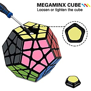Speed Cube Set, Aitey Cube Bundle 3x3 Cube, Pyramid Cube, Megaminx and Mirror Cube Magic Cube Puzzle Collection (4 Pack)