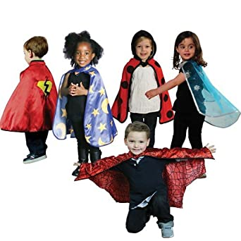 Fantasy Based Pretend Play Is >> Amazon Com 5 Fantasy Toddler Play Capes For Dress Up And Pretend
