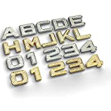 CALAP-STORE - 3.2cm Luxury Bling Metal Crystal Diamond Badge Decals Car Letter Alphabet Sticker Emblem DIY 3D Metal Custom Auto Decoration