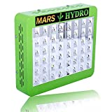 MarsHdyro Reflector 48 Led Grow Light with 102W True Watt for Hydroponic Indoor Garden and Greenhouse Full Spectrum Veg and Bloom Switches added