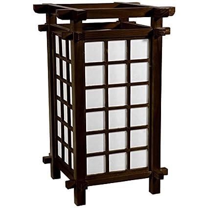 Oriental Furniture 17u0026quot; Ido Lamp   Walnut