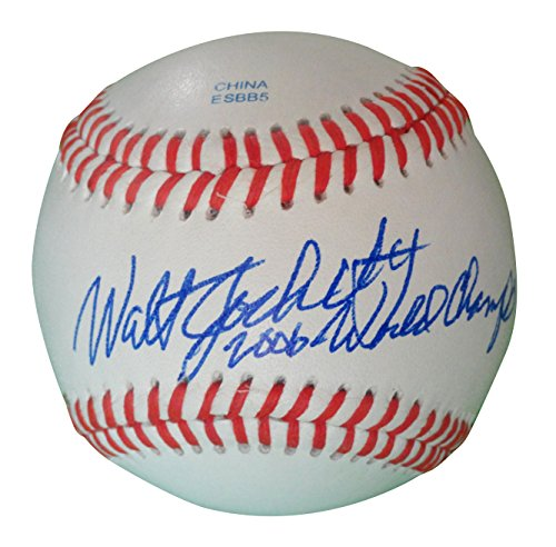 St. Louis Cardinals Walt Jocketty Autographed Hand Signed Baseball with World Series Inscription and Proof Photo of Signing and (Mlb 2006 World Series Baseball)