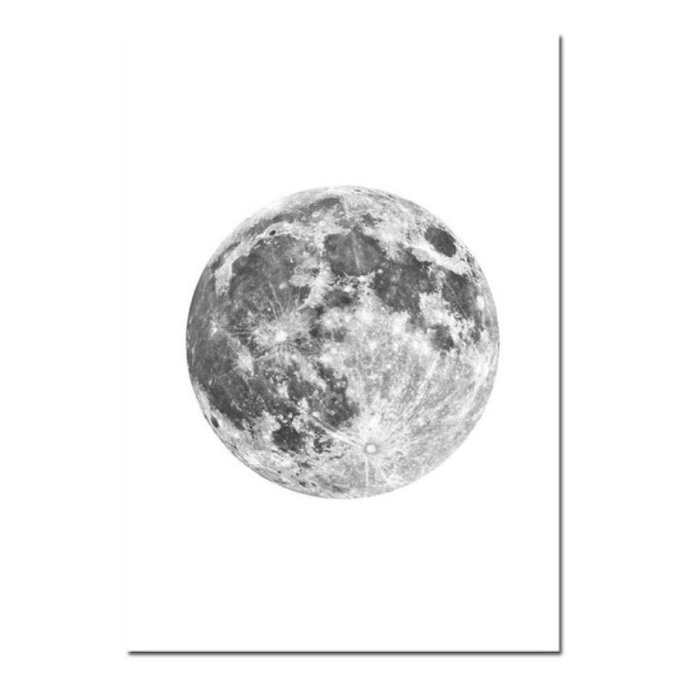 sochiyakart 3 St/ück Mondphase Poster Drucken Wandkunst Abstrakte Leinwand Malerei Nordic Dekoration Bilder Moderne Wohnzimmer Wohnkultur 40x60 cm Ungerahmt
