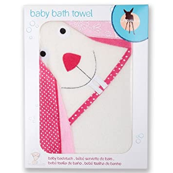 Lassig Baby Bath Bunny Towel, Girls/Box
