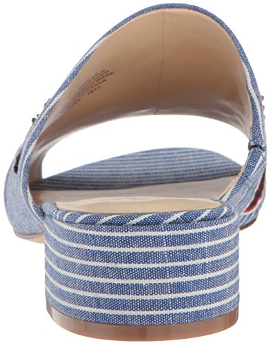 Nine West Vrouwen Raissa Fabric Slipper Blauw / Wit