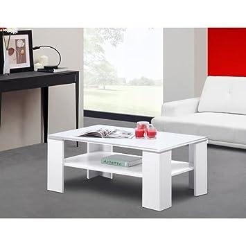 Charmant Générique CLEMENCE Table Basse 100cm Blanche