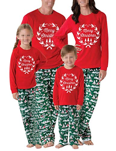 Merry Christmas Family Matching Pajamas Sets Top Santa Claus Tree Pant Christmas Pj for Family