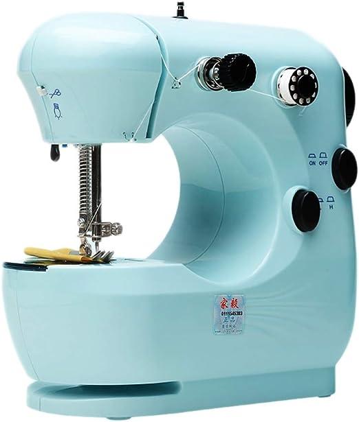 DULPLAY Casa Mimi Máquina de Coser, Electrónica Portátil Multifunción Principiantes Máquina Que acolcha para Todos los Trabajos de Costura-Azul 19x20x10cm(7x8x4inch): Amazon.es: Hogar