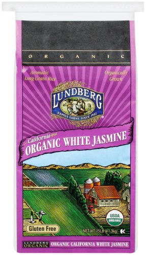 Lundberg Family Farms Organic Jasmine Rice, California White 25 - Jasmine White Rice