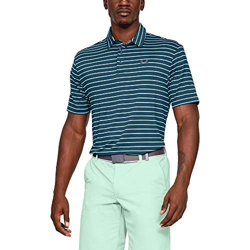 Under Armour Men's Playoff Golf Polo 2.0, Petrol Blue/Pitch Gray, Medium