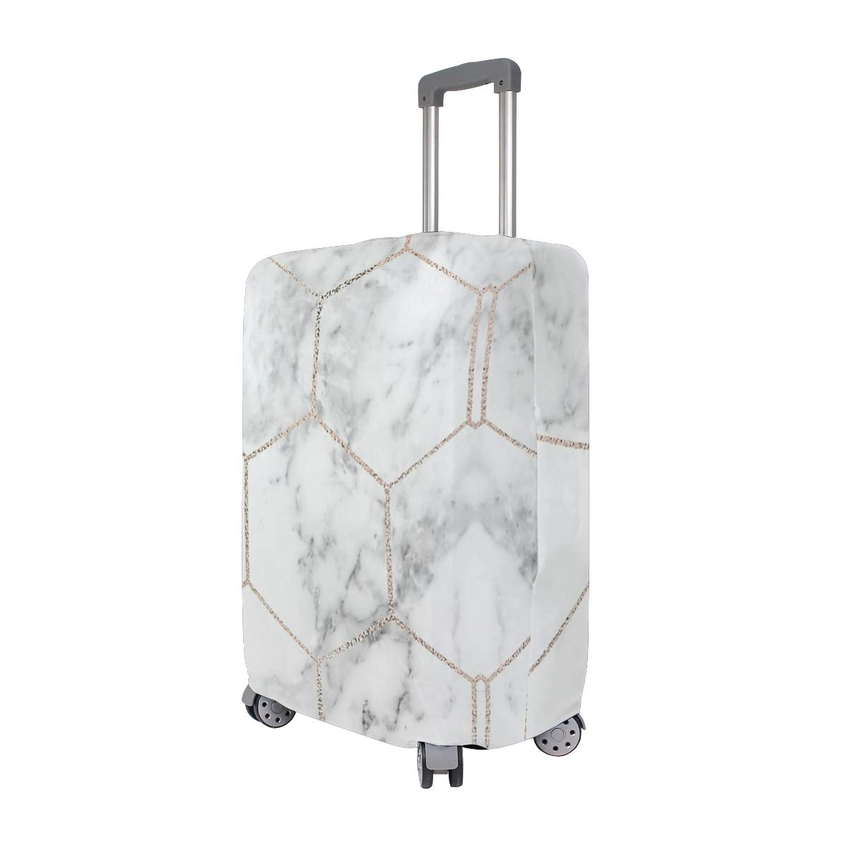 Honeycomb Rose Gold Marble Traveler Lightweight Rotating Luggage Cover Can Carry With You Can Expand Travel Bag Trolley Rolling Luggage Cover