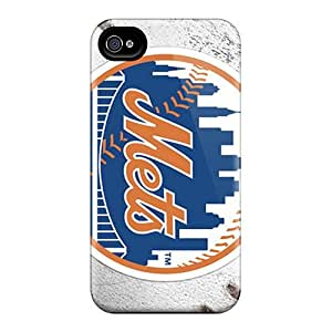 Anti-Scratch Hard Phone Cases For iphone 5c (NZC17448NzKz) Custom Colorful New York Mets Pictures