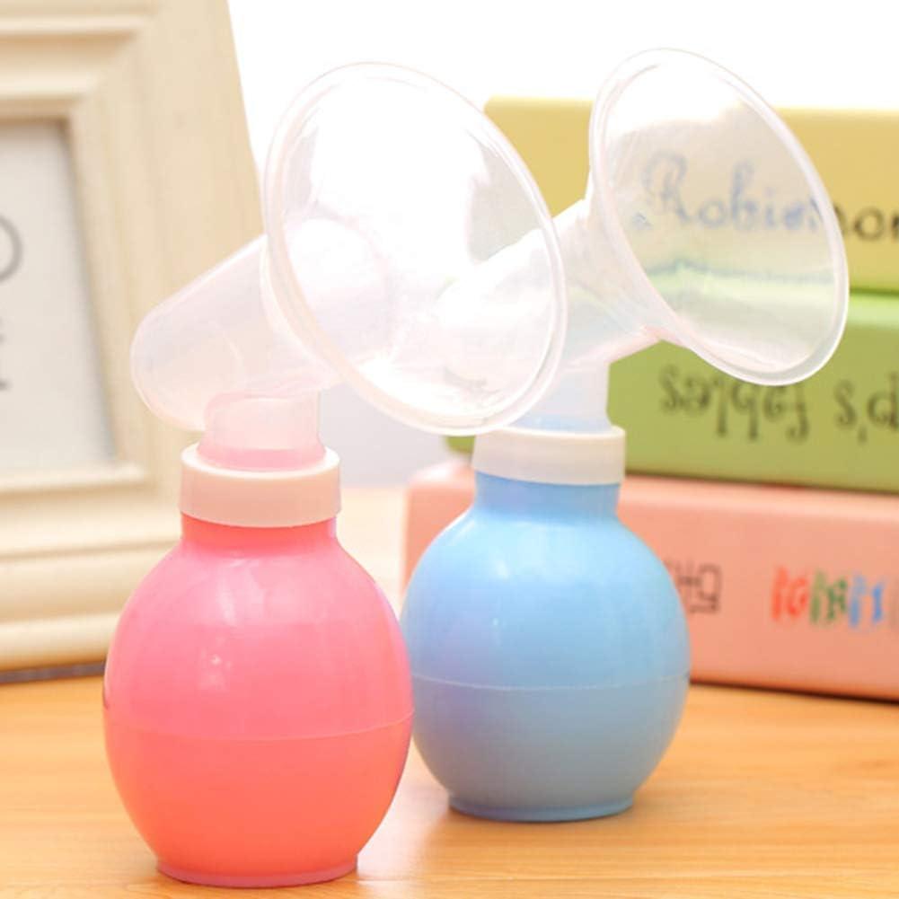 zmigrapddn Brustpumpen Tragbare schwangere manuelle Milchpumpen-Saugspeicher-Saugflasche PP f/ür Mutterschaftsfrauen Blau