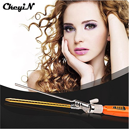 1 piece CkeyiN Professional Hair Curling Irons 9MM Hair Curler Fast Heating Electric Deep Waver Rollers Magic Curly Wand Styling Tool 46