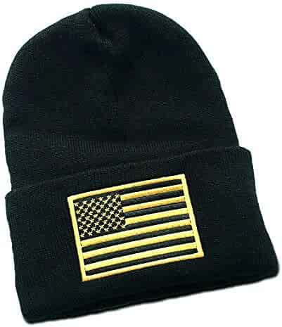 4b838713b9f Waldeal Embroidered Subdued Us Flag Tactical Toddler Cap Beanie for Kids  3-8 Year Old