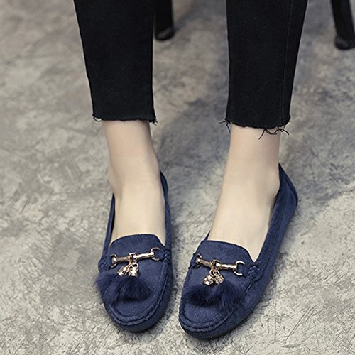 Mocassino Da Donna T-july - Morbido Slip On Mocassini Con Nappe Clssic Antiscivolo Blu