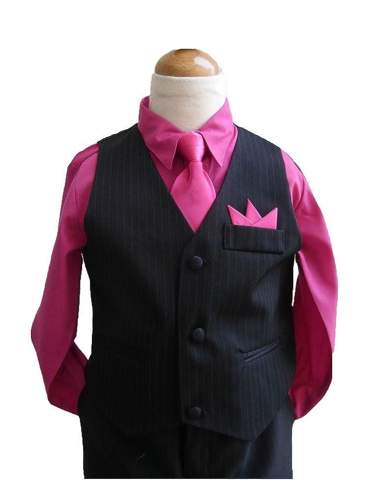 Classykidzshop Black Fuschia Boy Vest Set (Size 12)