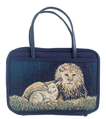 Charleston Needlepoint Lion and Lamb Med ()