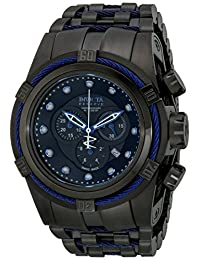Invicta Men's 14062 Bolt Reserve Chronograph Black Dial Black Ion-Plated Stainless Steel Watch