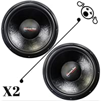2 NEW American Bass XD1522 15 Inch 2 Ohm 4000W MAX Dual CAR SUBWOOFERS PAIR