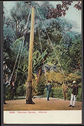 Mexican Danza de los Voladores? Pole sport postcard ca 1910