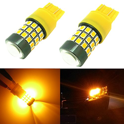 Alla Lighting 39-SMD 7443 7440 T20 High Power 2835 Chipsets Xtremely Super Bright Amber Yellow LED Bulbs for Turn Signal Light (Led Signal Lights)