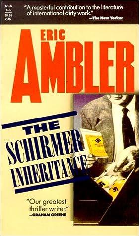 Foro de descarga de libros electrónicosThe Schirmer Inheritance 0881847674 PDF iBook PDB by Eric Ambler