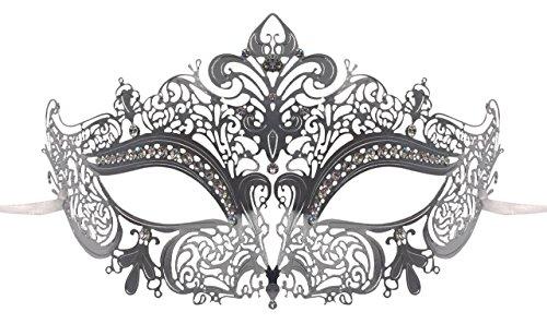 Luxury Mask Women's Laser Cut Metal Venetian Masquerade Crown - Crown Venetian