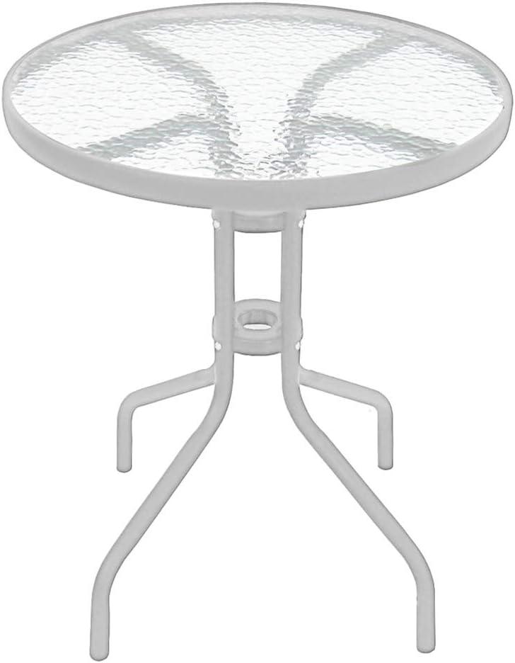 argento Tavolo da giardino in vetro