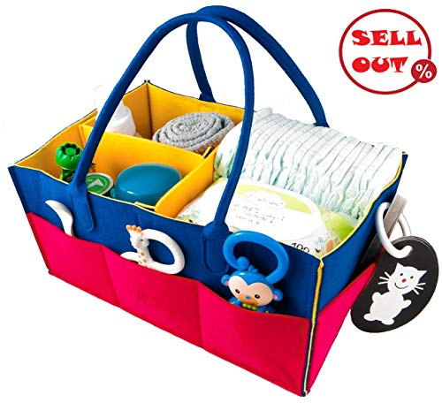 Baby Diaper Changing Organizer Caddy - Convenient & Durable Diaper Storage Nursery Basket for Changing Table - Store, Organize & Carry Infant Diapers, Clothes, Toys Snacks - Perfect Baby Shower Gift (Best Baby Clothes Stores)
