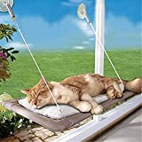 Yookay Cat Window Perch Bed Seat,Window Mounted Cat Hanging Hammock with 4 Ultra Heavy Duty Suction Cups Holds up to 35lbs