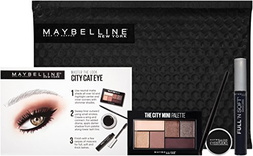 Maybelline New York Ny Minute Mascara Eye Makeup Gift Set, City Cat Eye Eyes Gift Set