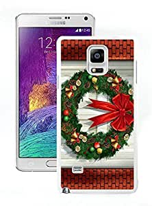 Personalized Hard Shell Merry Christmas White Samsung Galaxy Note 4 Case 97