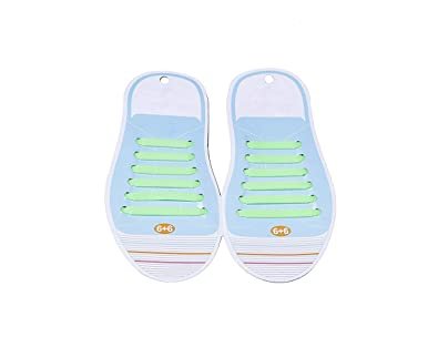be3abb7e6 Futurekart No Tie Elastic Silicone Shoelaces Hook Type Shoe Lace for  Sneakers Sport All Shoes -12 Shoelaces Green 1 Pair(children Anchor Lace)  Buy  Online ...