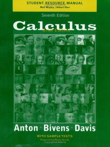 Student Resource Manual to accompany Brief Calculus, 7e