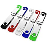 KEXIN 10 Pack 32GB USB 2.0 Flash Drive Bulk Thumb Drive Memory Stick Jump Drive Zip Drive, 5 Colors (Black, Blue, Green, White, Red)